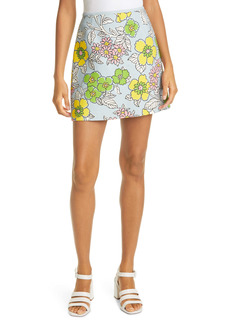 Tory Burch Floral Miniskirt