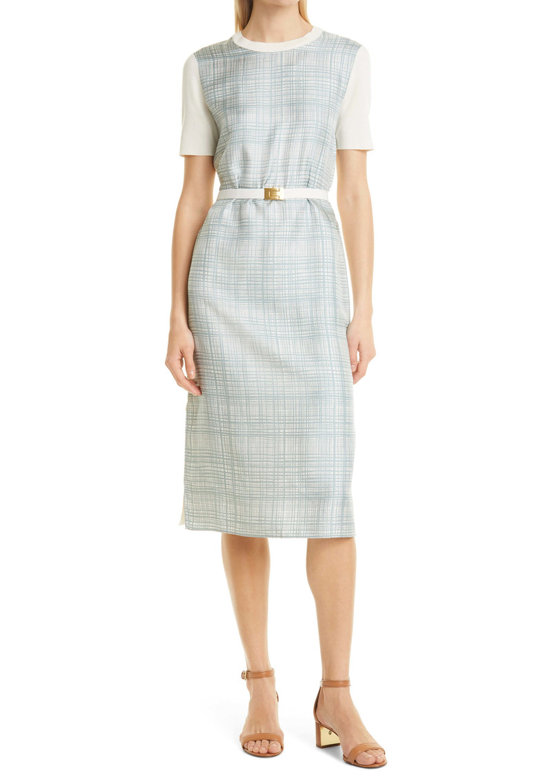 Tory Burch Greer Silk Panel Pencil Dress