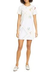 Tory Burch Handkerchief Print Cotton T-Shirt Dress