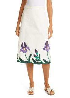 Tory Burch Iris Embroidered Skirt