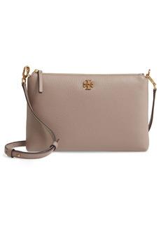 Tory Burch Kira Pebbled Leather Wallet Crossbody Bag - Grey