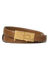 Tory Burch Lee Radziwill Leather Lock Belt