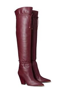 Tory Burch Lila Over the Knee Scrunch Boot (Women)