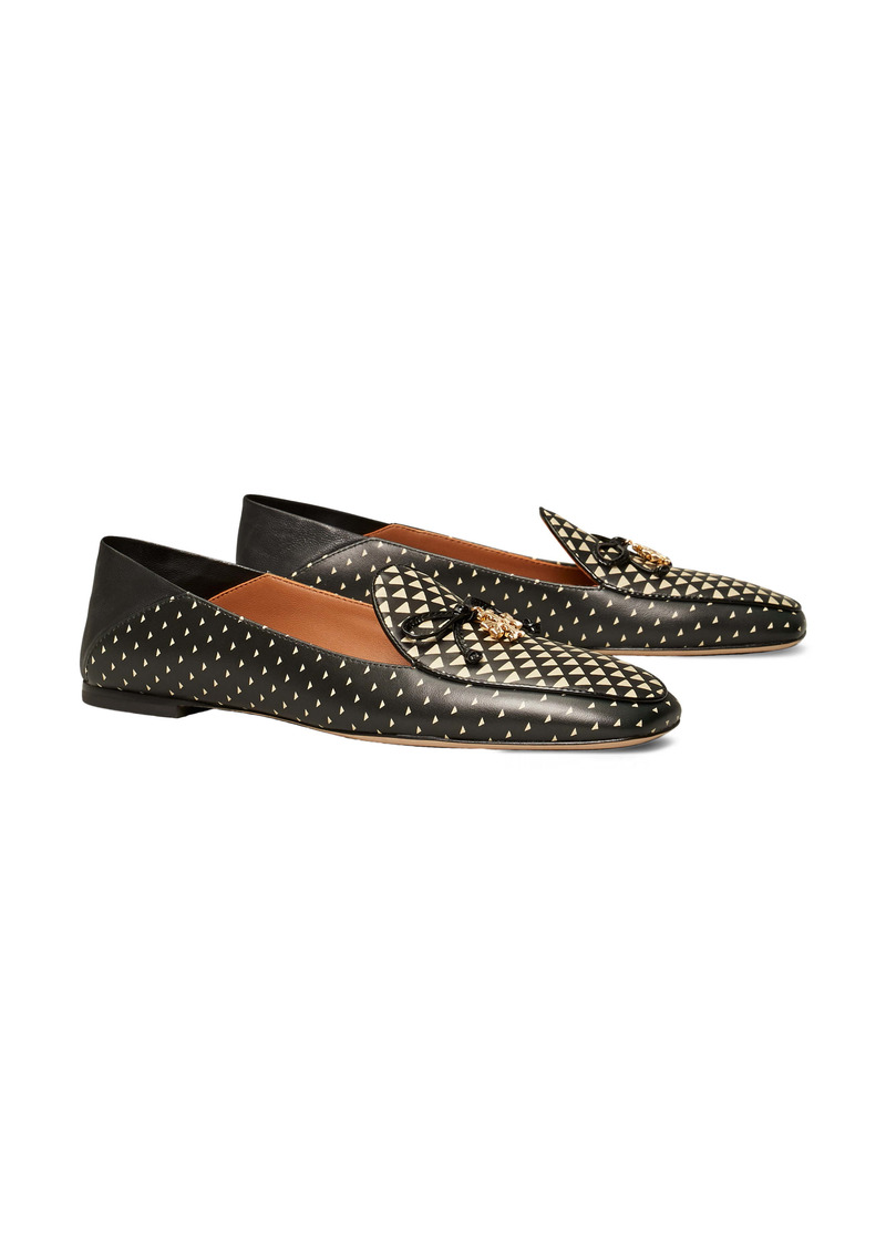 Tory Burch Logo Charm Collapsible Loafer (Women)