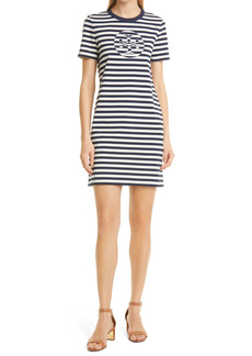 Tory Burch Logo Stripe T-Shirt Dress