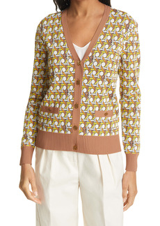 Tory Burch Madeline Basket Weave Cardigan