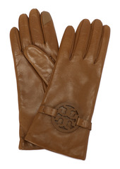 Tory Burch Miller T-Logo Leather Gloves