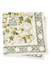 Tory Burch Painted Caning with Birds Silk Square Scarf