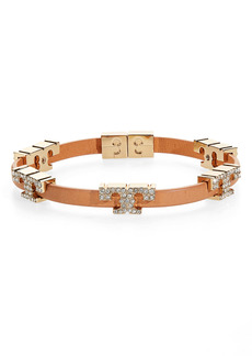 Tory Burch Pavè Serif T Stackable Bracelet