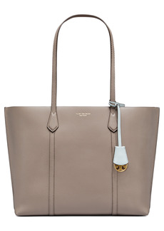 Tory Burch Perry Leather Tote - Grey