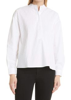 Tory Burch Pleated Button-Up Shirt