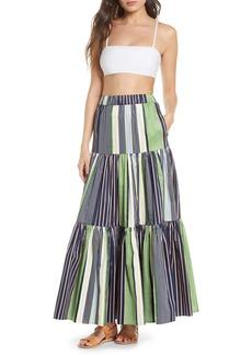 Tory Burch Shibori Stripe Cover-Up Skirt