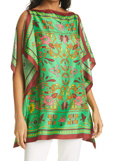 Tory Burch Silk Scarf Caftan Top