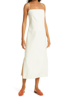 Tory Burch Strap Back Linen Sheath Dress