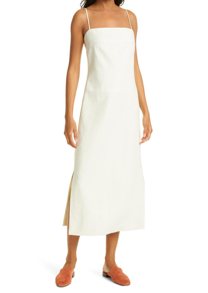 Tory Burch Strap Back Linen Sheath Dress