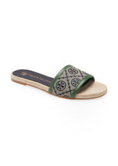 Tory Burch T Monogram Slide Sandal (Women)