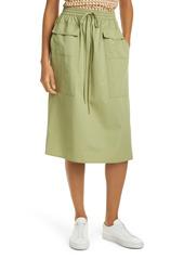 Tory Burch Tie Waist Poplin Skirt