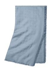Tory Burch Traveler Logo Jacquard Wool & Silk Scarf
