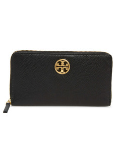 Tory Burch Tory Carson Zip Leather Continental Wallet
