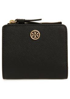Women's Tory Burch Robinson Mini Wallet - Black