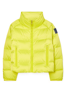 Tory Sport by Tory Burch Performance Satin Down Crop Jacket