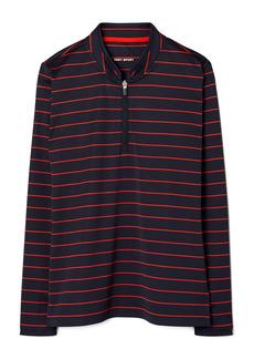 Tory Sport by Tory Burch Performance Stripe Half Zip Pullover