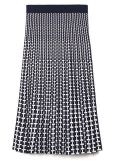 Tory Sport by Tory Burch Pleated Jacquard Skirt