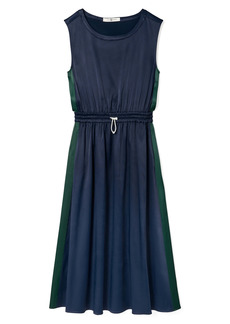 Tory Sport by Tory Burch Textured Satin Track Dress