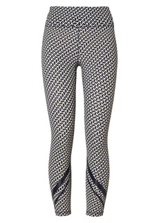 Tory Sport by Tory Burch Weightless Chevron 7/8 Ankle Leggings