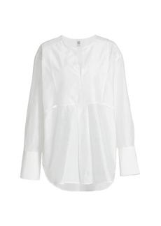 Totême Plain Bib Cotton-Silk Blend Shirt
