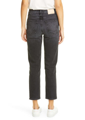 TRAVE Constance High Waist Ankle Straight Leg Jeans (On the Road Again)