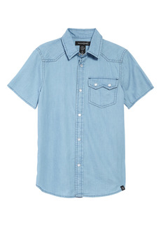 Treasure & Bond Kids' Chambray Snap Front Shirt (Little Boy & Big Boy)