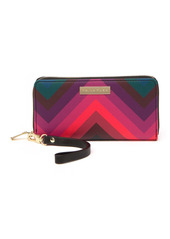 Trina Turk Chevron Zip-Around Wristlet Wallet