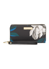 Trina Turk Floral Zip-Around Wristlet Wallet