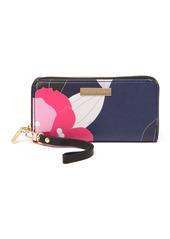 Trina Turk Floral Zip-Around Wristlet Wallet