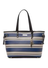 Trina Turk Striped Tote Bag & Matching  Wristlet Set