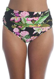 Trina Turk Moonlit Lotus Convertible High Waist Bikini Bottoms