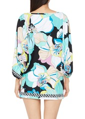 Trina Turk Sintra Floral Print Cover-Up Tunic