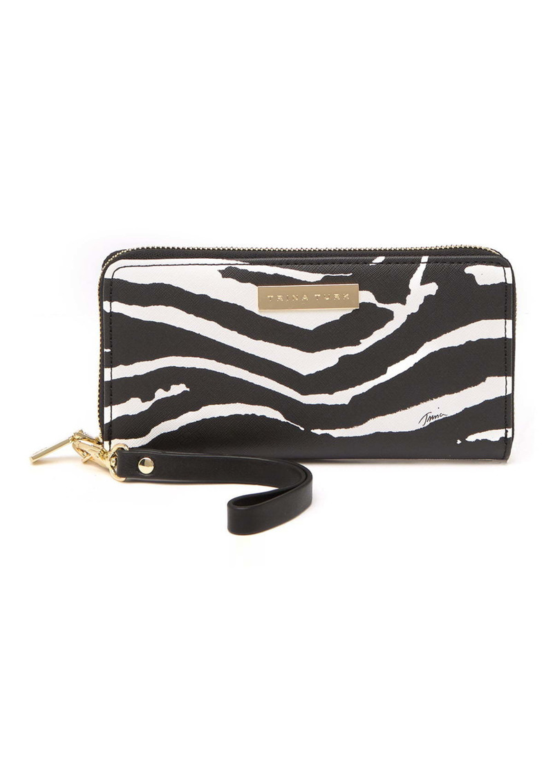 Trina Turk Zebra Stripe Zip-Around Wristlet Wallet