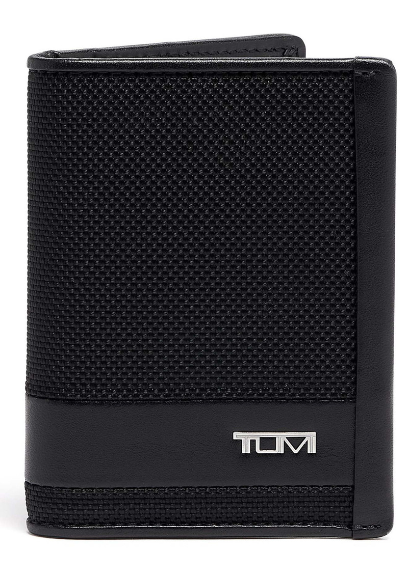 Tumi Alpha Leather & Nylon Bifold Card Case Wallet