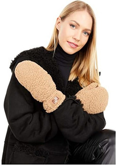UGG Sherpa Mitten with Logo Patch and Conductive Palm