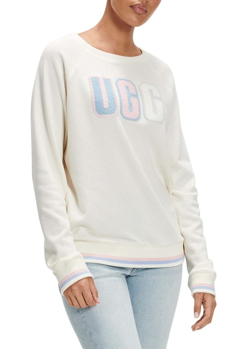 UGG® Fuzzy Logo Crewneck Sweatshirt