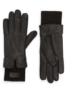 UGG® Knit Cuff Leather Tech Glove