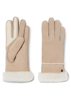 UGG® Seamed Touchscreen Compatible Genuine Shearling Lined Gloves