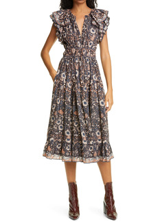 Ulla Johnson Analise Ruffle Tie Waist Dress
