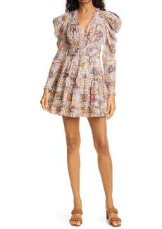 Ulla Johnson Julie Long Sleeve Print Minidress