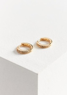 Urban Outfitters Exclusives 18k Gold Plated Rhinestone Hoop Earring