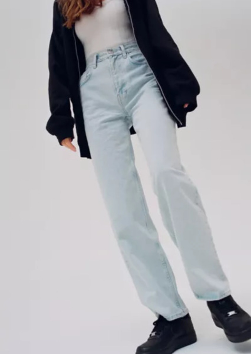 Urban Outfitters Exclusives BDG High-Waisted Baggy Jean - Bleached Light Wash