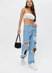 Urban Outfitters Exclusives BDG High-Waisted Baggy Jean - Destroyed Light Wash