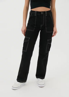 Urban Outfitters Exclusives BDG High-Waisted Contrast Stitch Skate Jean - Black